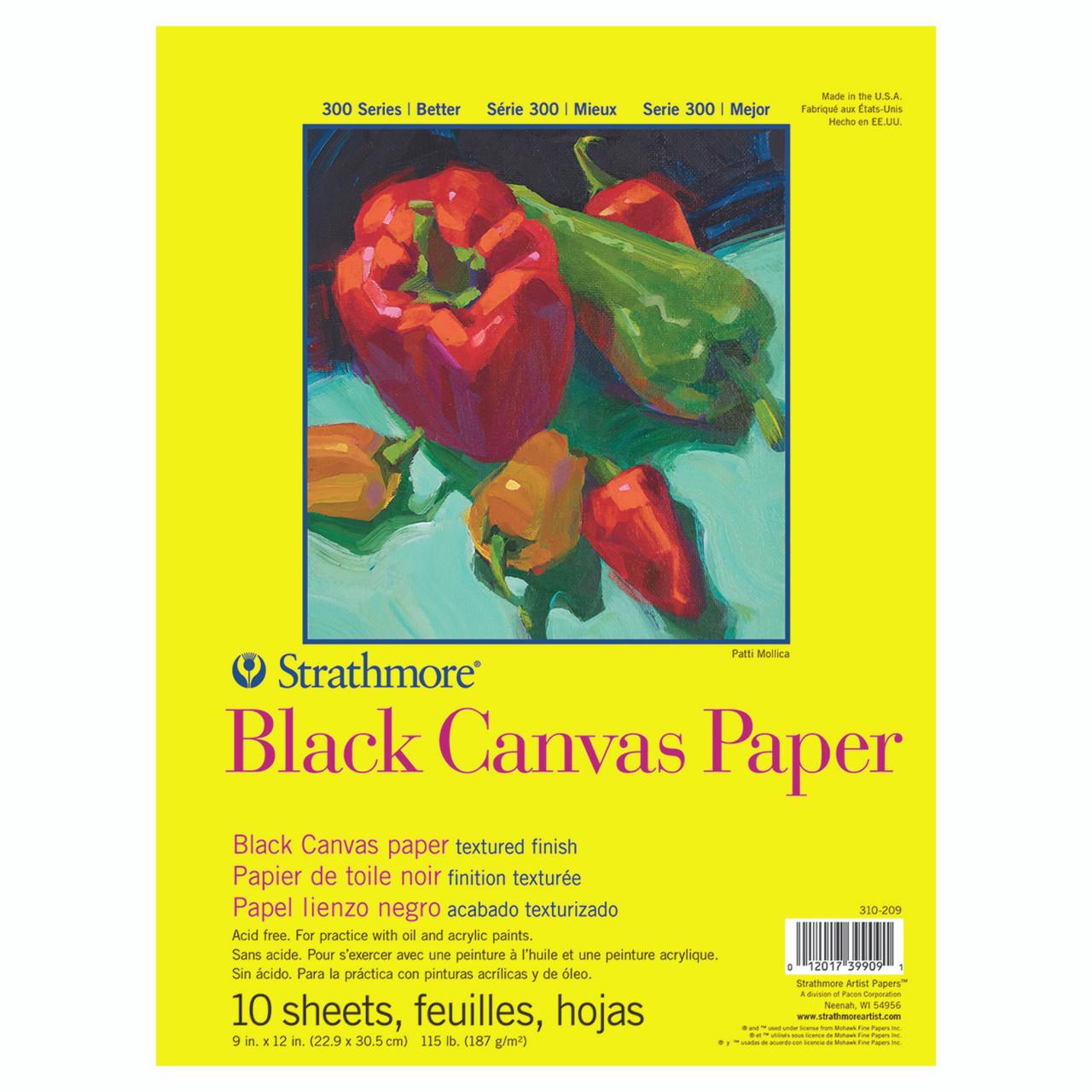 Canvas Black Paper Pad Series 300 9 x 12