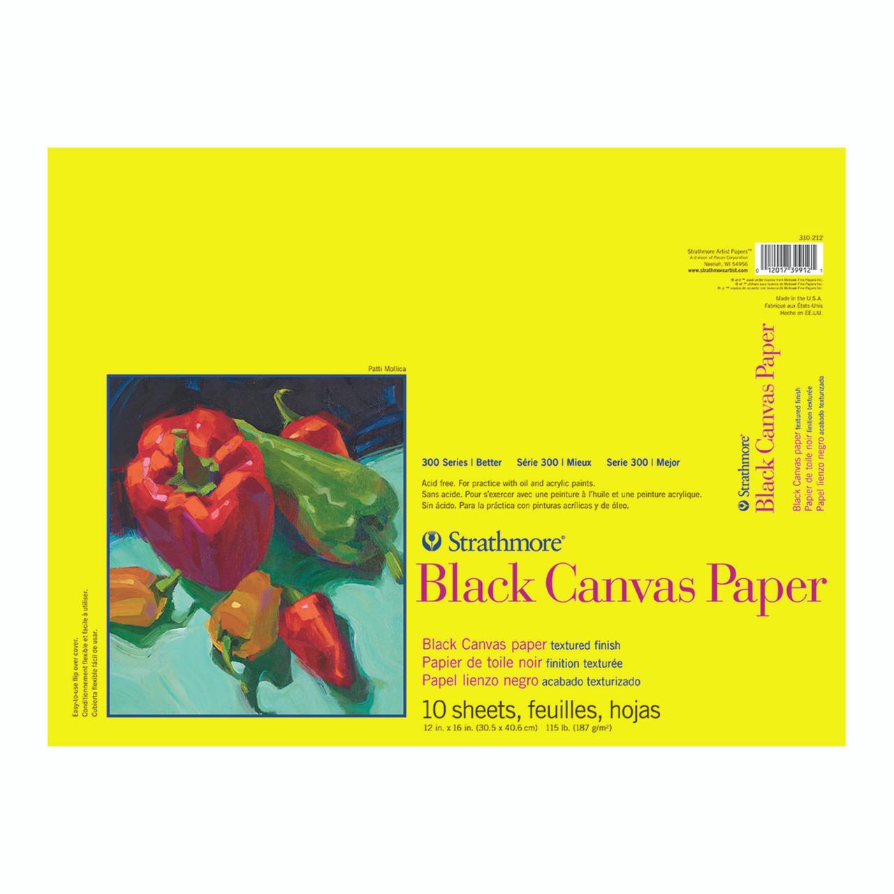 Canvas Black Paper Pad Series 300 12 x 16