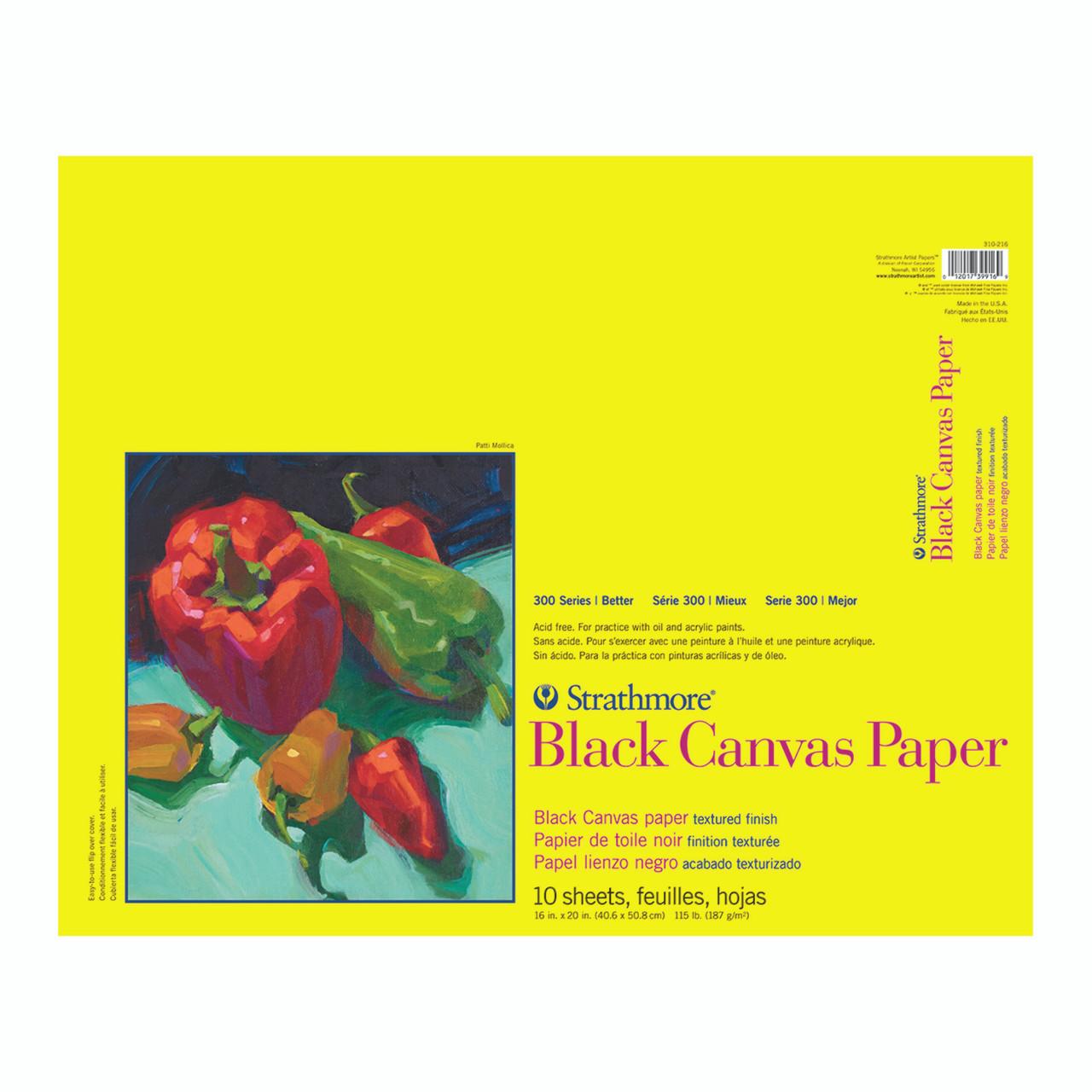 Canvas Black Paper Pad Series 300 16 x 20