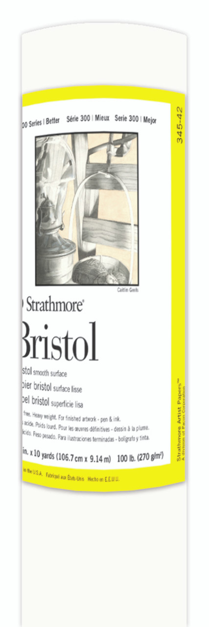 Fine Art Paper Roll Series 300 Bristol Smooth 42 x 10yd 100lb