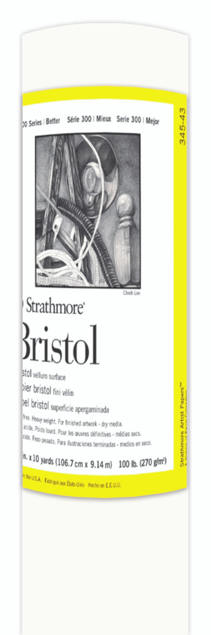 Fine Art Paper Roll Series 300 Bristol Vellum 42 x 10yd 100lb