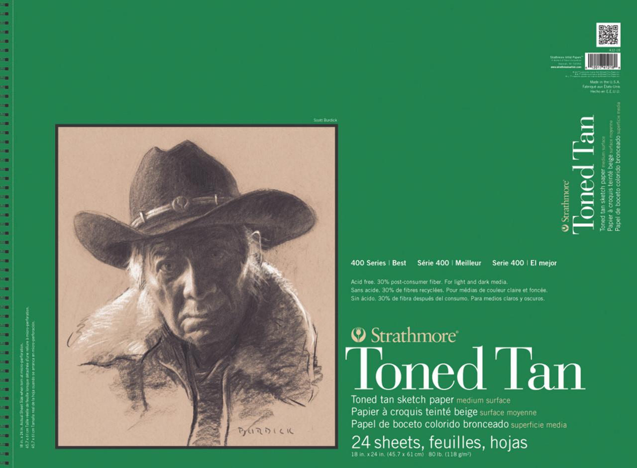 Toned Sketch Paper Pad Series 400 18 x 24 Tan