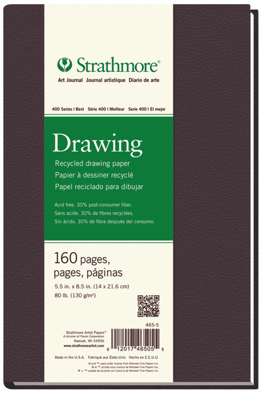 Hardbound Drawing Art Journal Series 400 Recycled 5.5 x 8.5 160 Pages