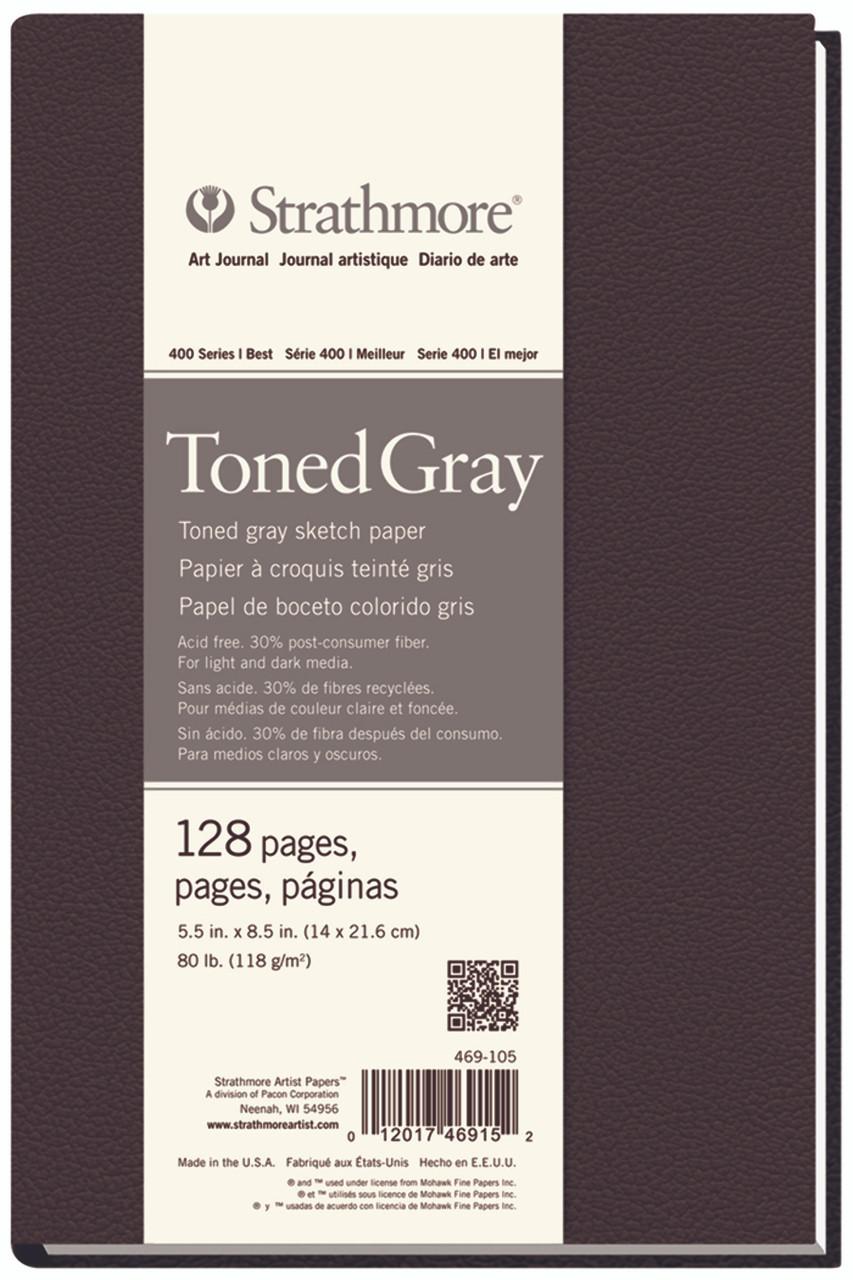 Toned Hardbound Art Book Series 400 5.5 x 8.5 Gray (Cool) 80lb (118 gsm) Hard Bound