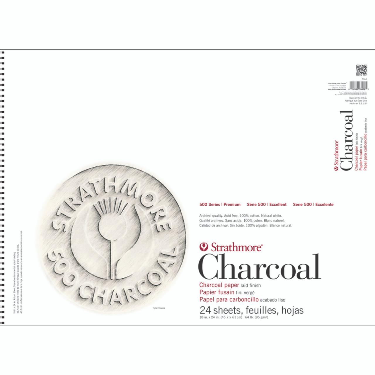 Charcoal Paper Pad Series 500 18 x 24