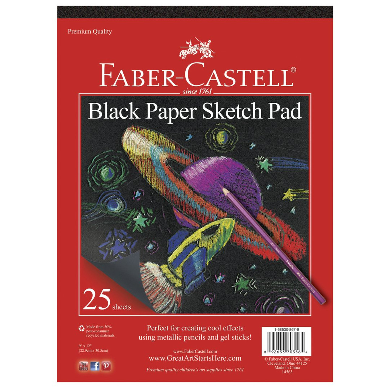 Sketch Pad 9 x 12 Black 40sht Pad