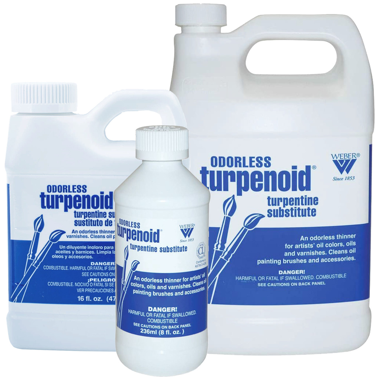 Martin F. Weber Odorless Turpenoid, sizes 8oz, 16oz, 32oz