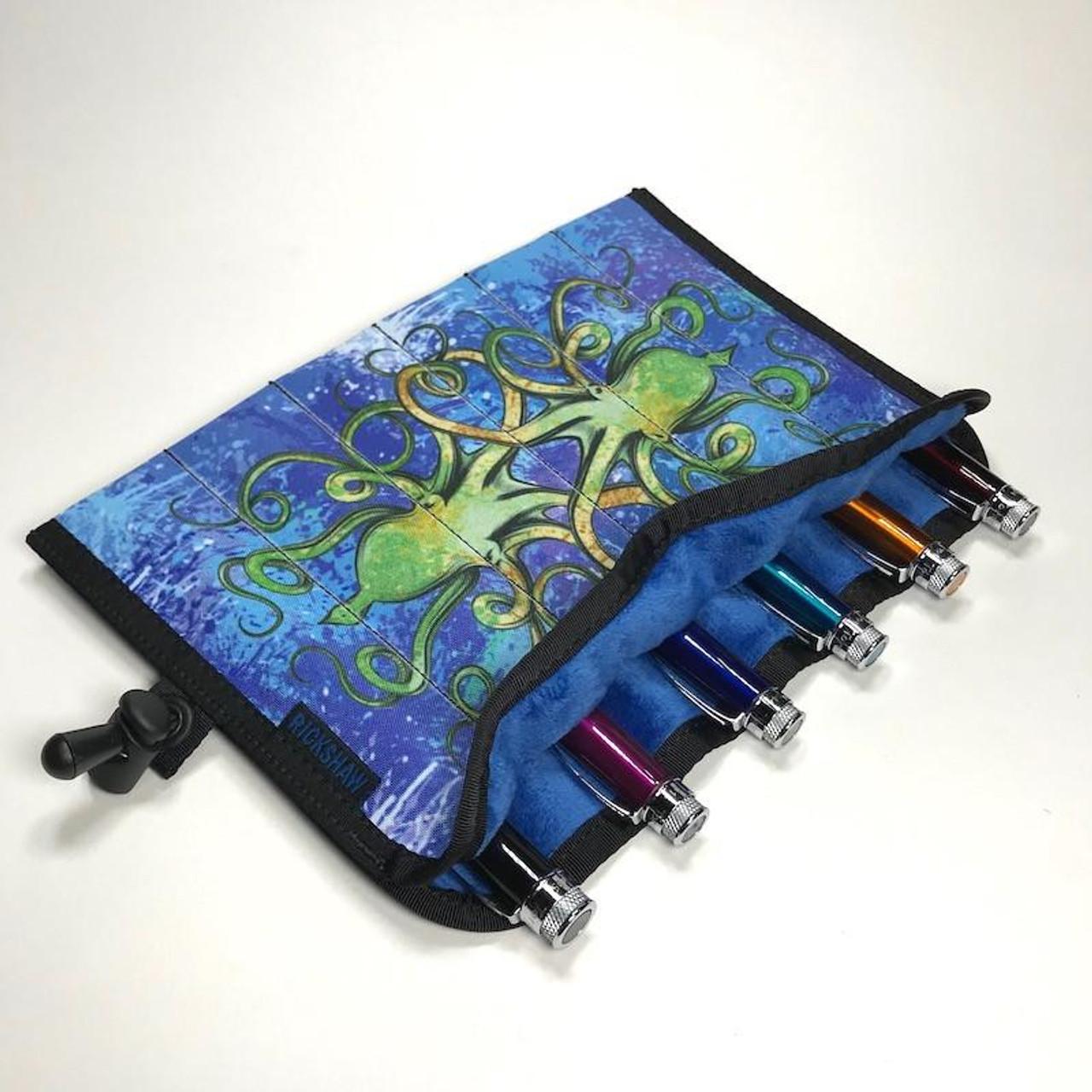 Inktopus, 6 Pen Hand Roll - Blue