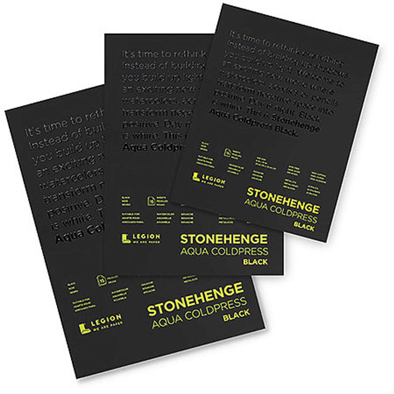 Stonehenge Aqua Cold-Press Black Watercolor Pad