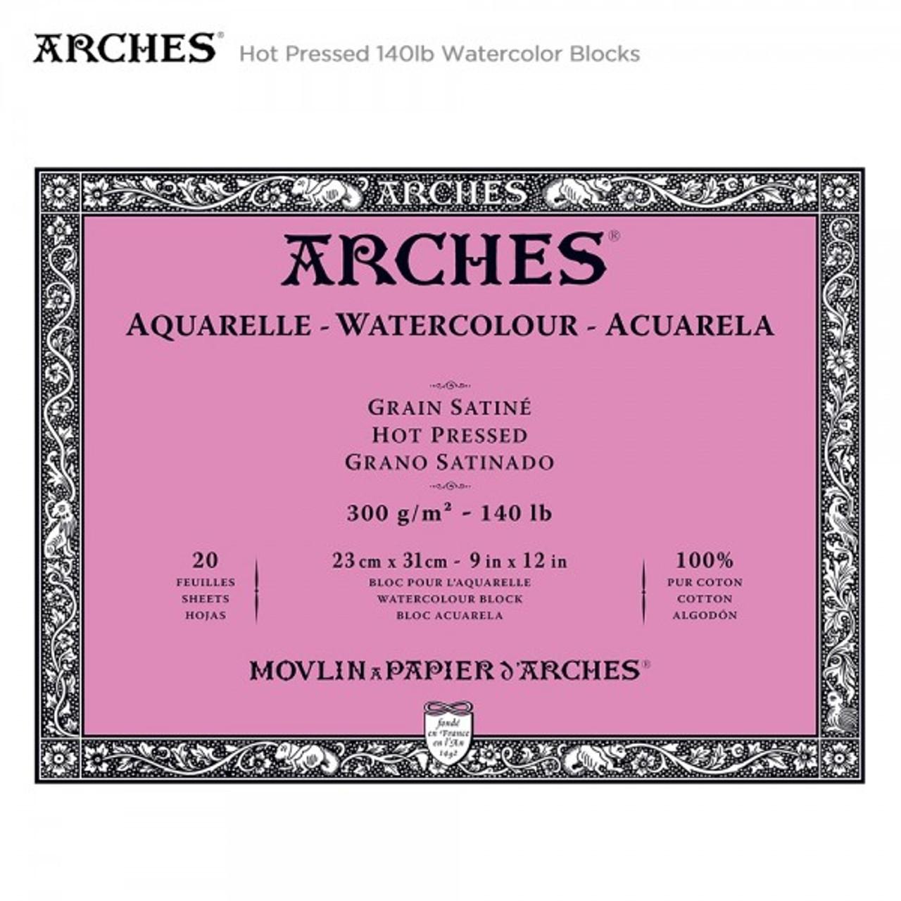 Arches 140 lb. Watercolor Block, Hot-Pressed