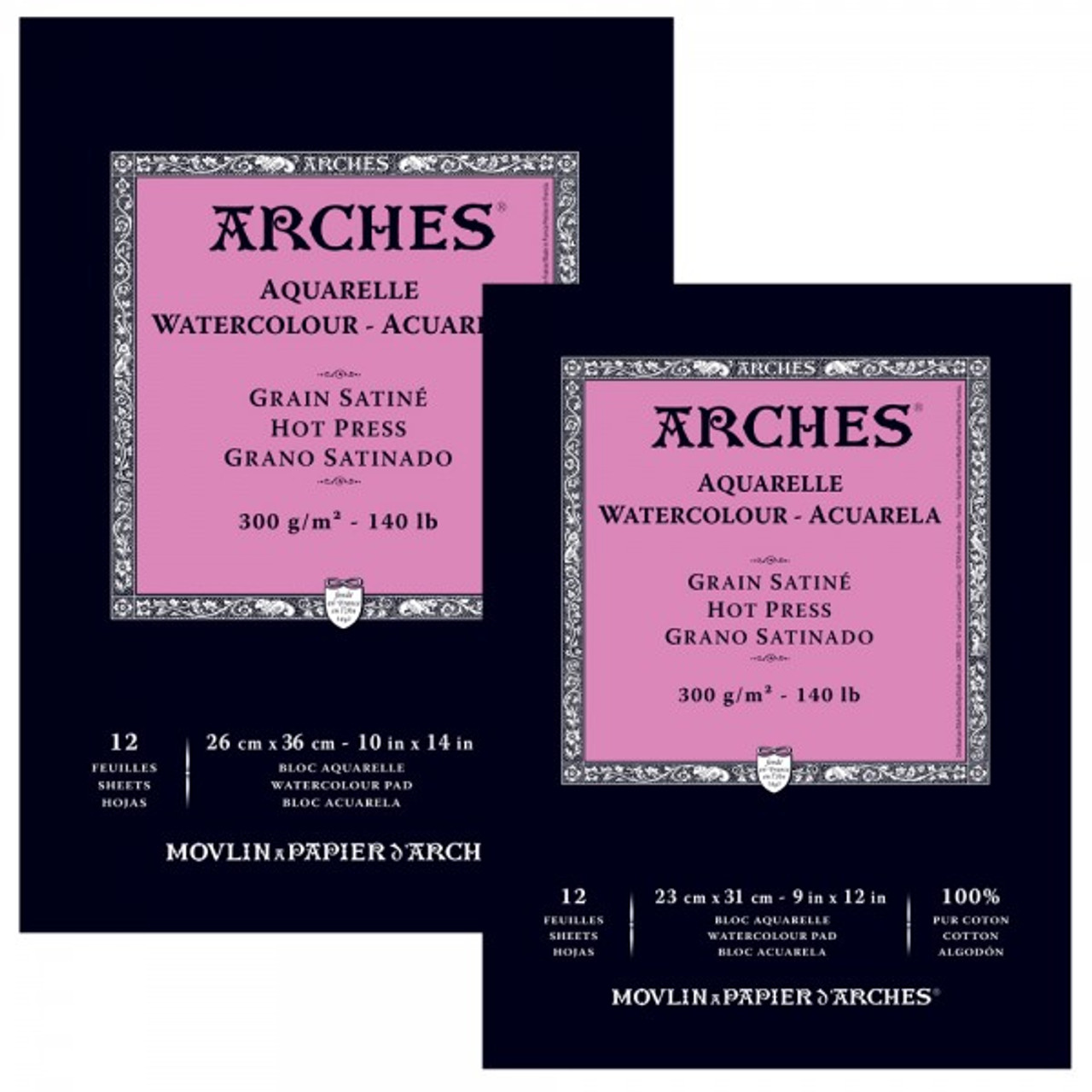 Arches 140 lb. Watercolor Pad, Hot-Pressed