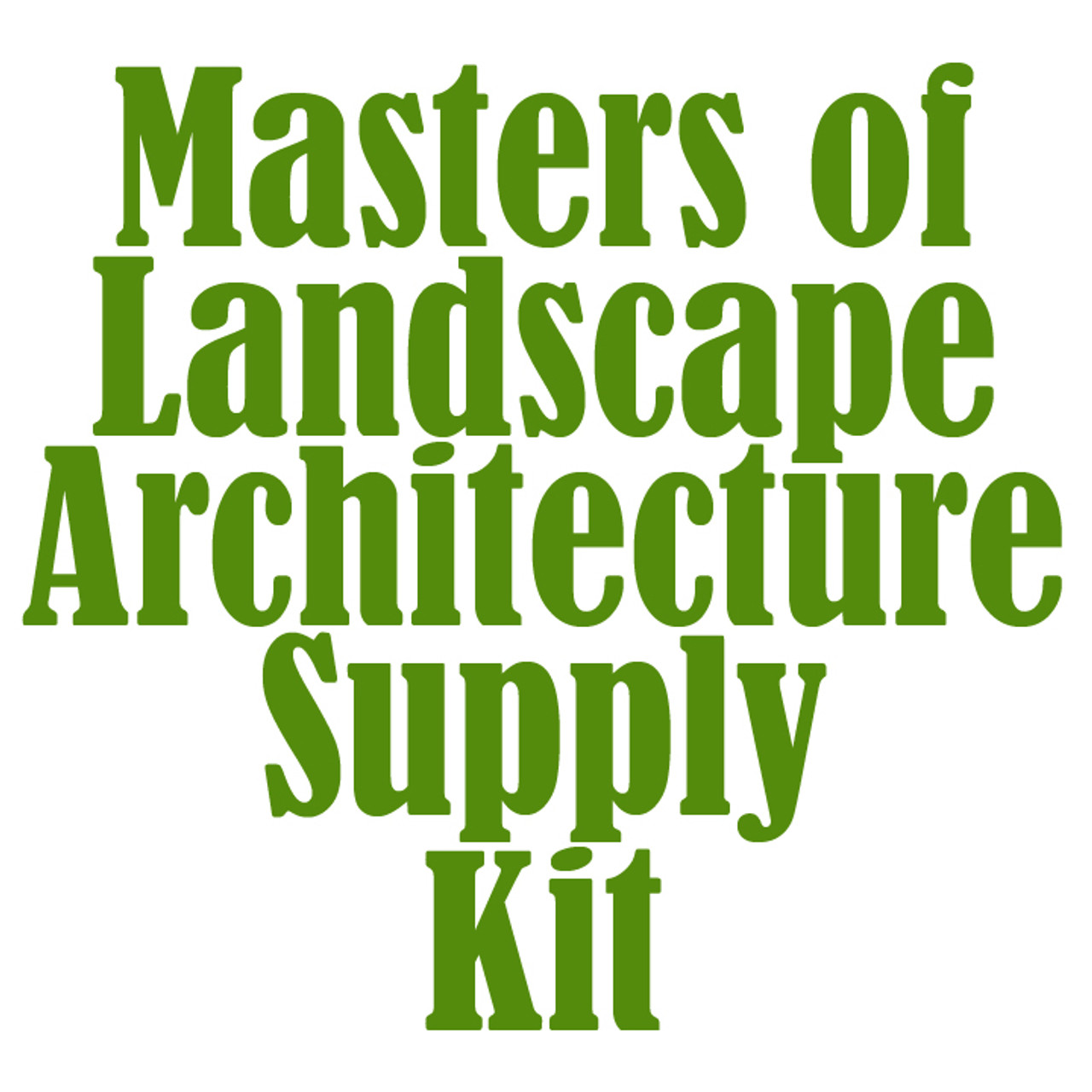 University of Colorado at Denver Masters of Landscape Architecture Supply Kit