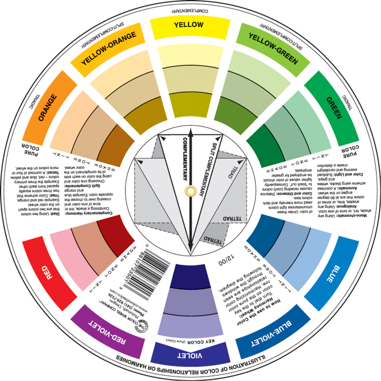 "Artist's Color Wheel (9.25"" Diameter)"