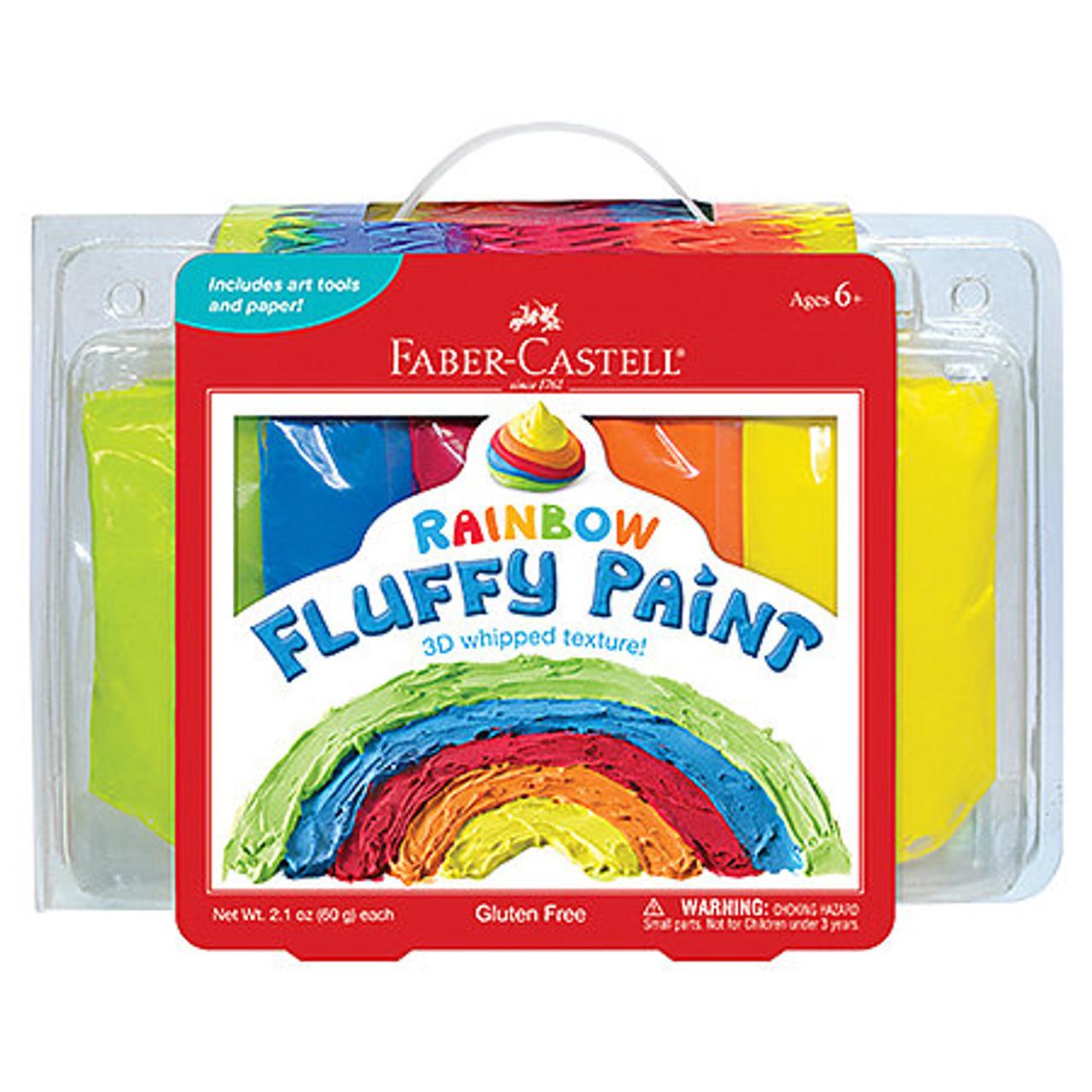 Faber-Castell Rainbow Fluffy Paint Set