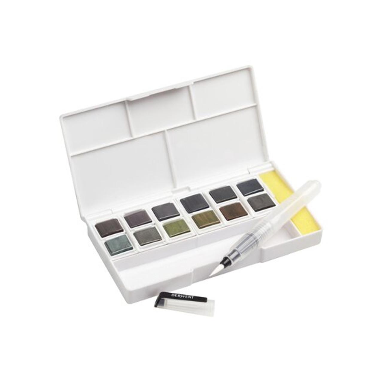 Derwent Graphitint Watercolor Paint 12-pan Set