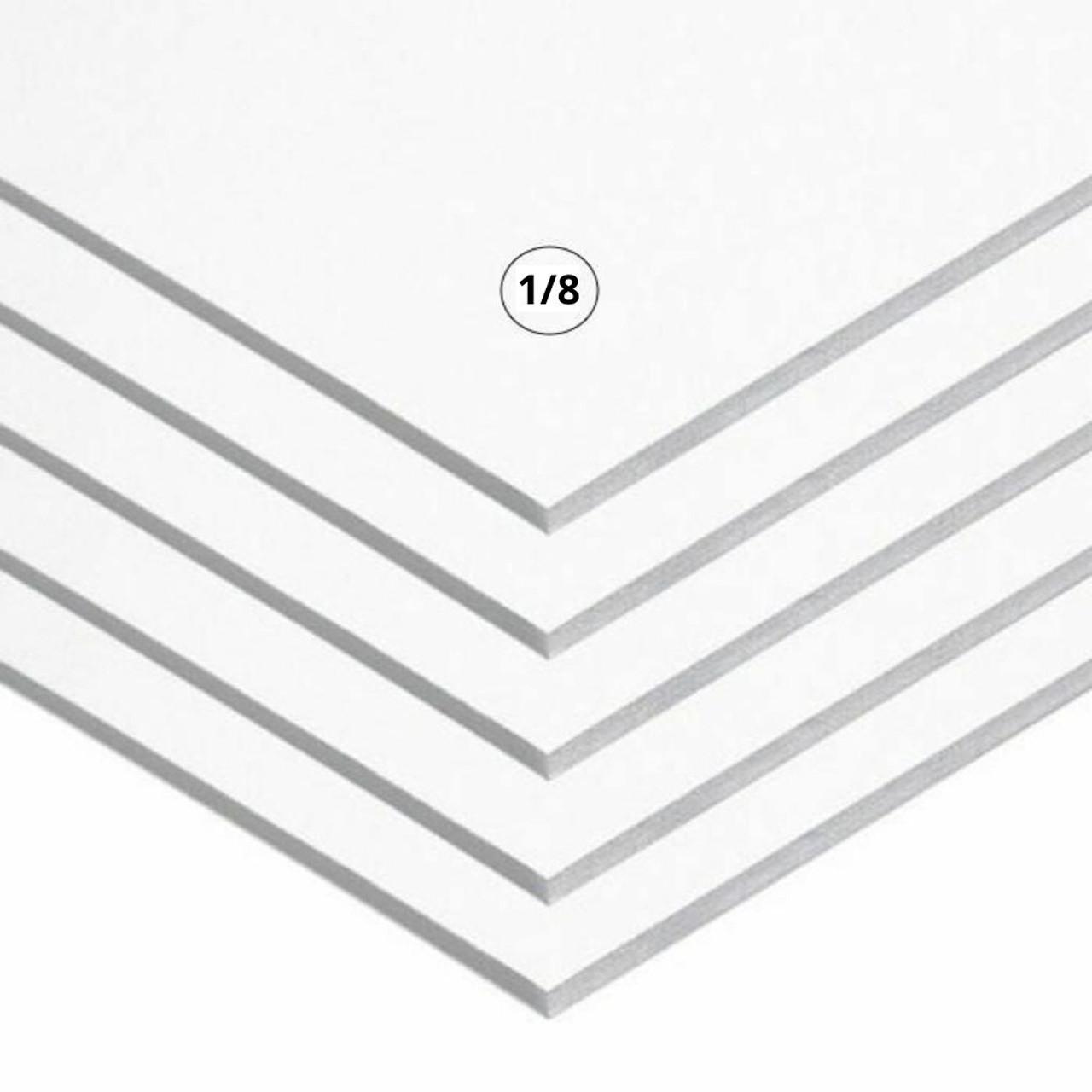 "1/8"" White Foamcore Board"