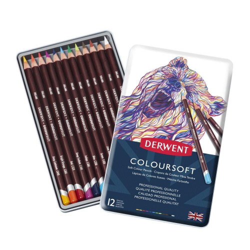 Derwent Coloursoft 12pc open