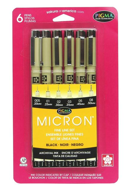 Micron 6pc Black Set