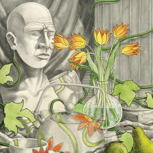artist Logan Childress drawing