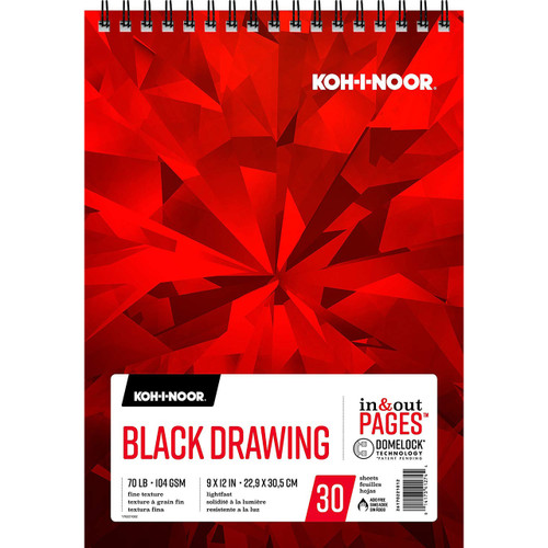 Koh-I-Noor Black Drawing Pad 9x12