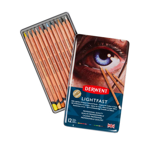Derwent Lightfast 12-Pencil Set