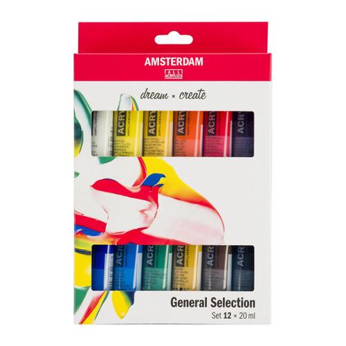 Amsterdam Standard Series Acrylic Paint 12-20ml Set