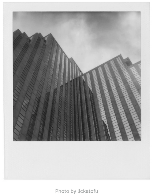 SX-70 B&W Film, photo by lickatofu