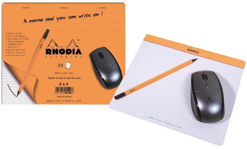Rhodia Mouse Pad 7.5x9 Graph Orange
