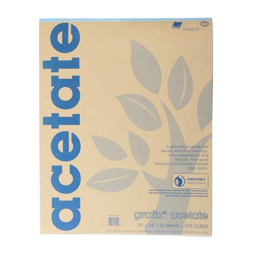 Grafix Clear Acetate Film .003mm 19in x 24in