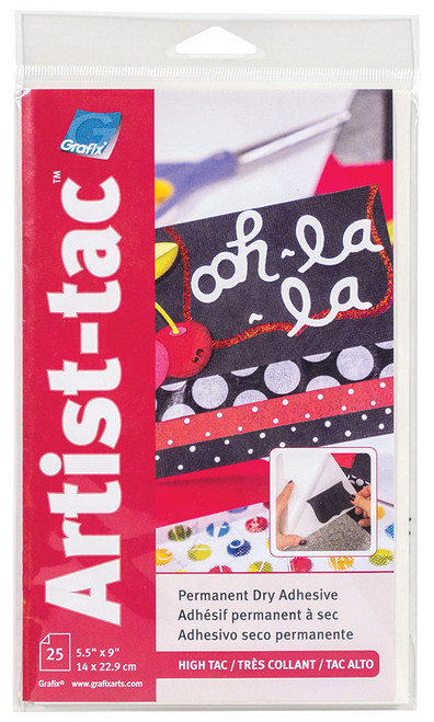 Grafix Artist-Tac Dry Adhesive Sheet 25pk 5.5in x 9in
