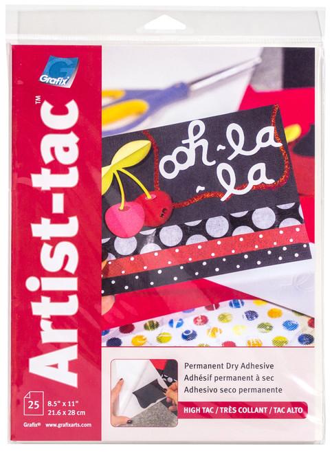 Grafix Artist-Tac Dry Adhesive Sheet 25pk 8.5in x 11in