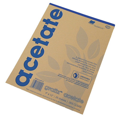 Grafix Clear Acetate Film .003mm 9in x 12in
