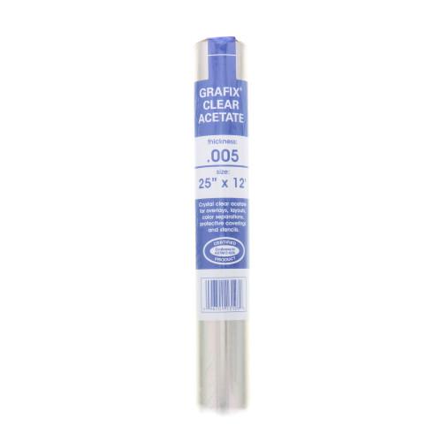Grafix Acetate Film Roll .005mm Clear 25in x 12ft