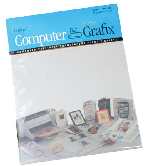 Grafix Inkjet Film 6pk 8.5in x 11in