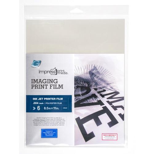 Grafix Imaging Print Film for Inkjet 6pk 8.5in x 11in