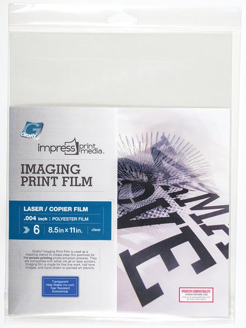 Grafix Imaging Print Film for Laser 6pk 8.5in x 11in