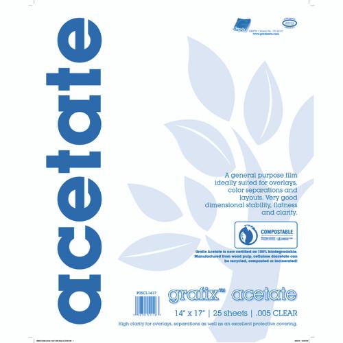 Grafix Clear Acetate Film .005mm 14in x 17in
