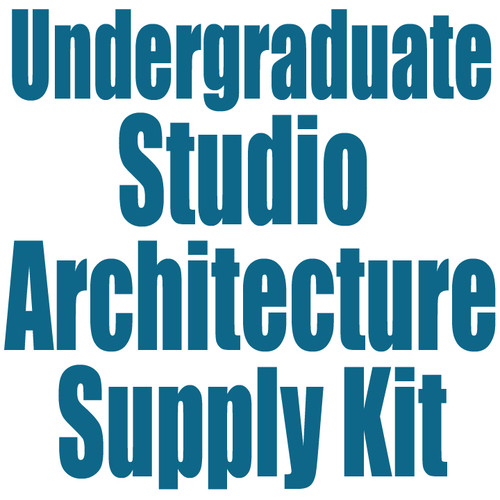 University of Colorado at Denver Undergraduate Studio Architecture Supply Kit