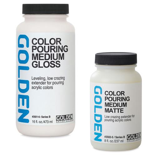 Golden Color Pouring Medium