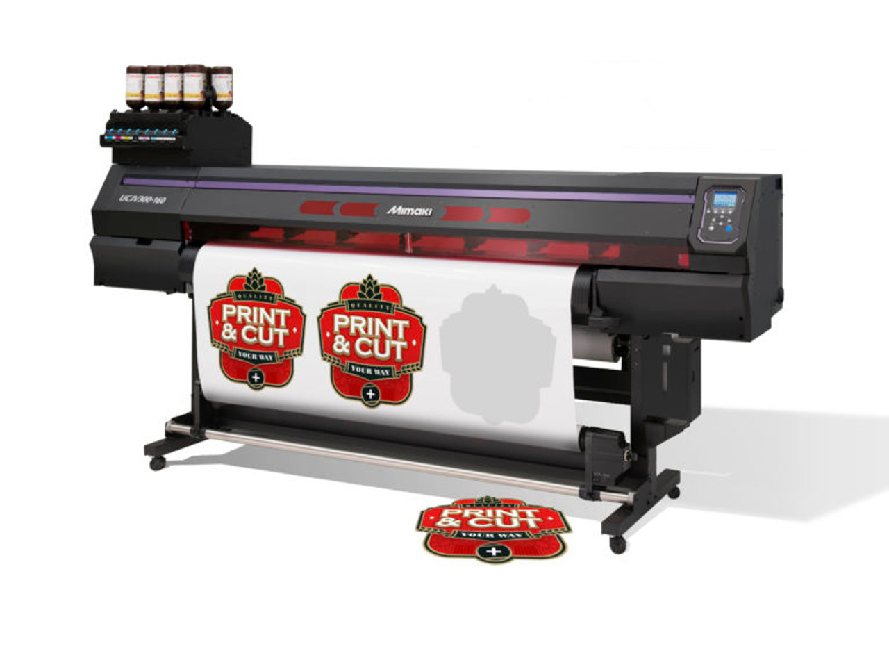 UCJV300-107 UV-LED Roll to Roll Cut-and-Print