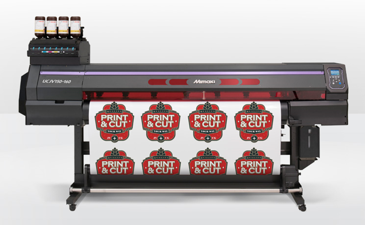JFX200-2513 Flatbed UV Printer + UCJV300-160 Roll to Roll Printer