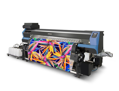 The roll handling system shown in the picture is not included. The +10kg bulk ink delivery system is included.