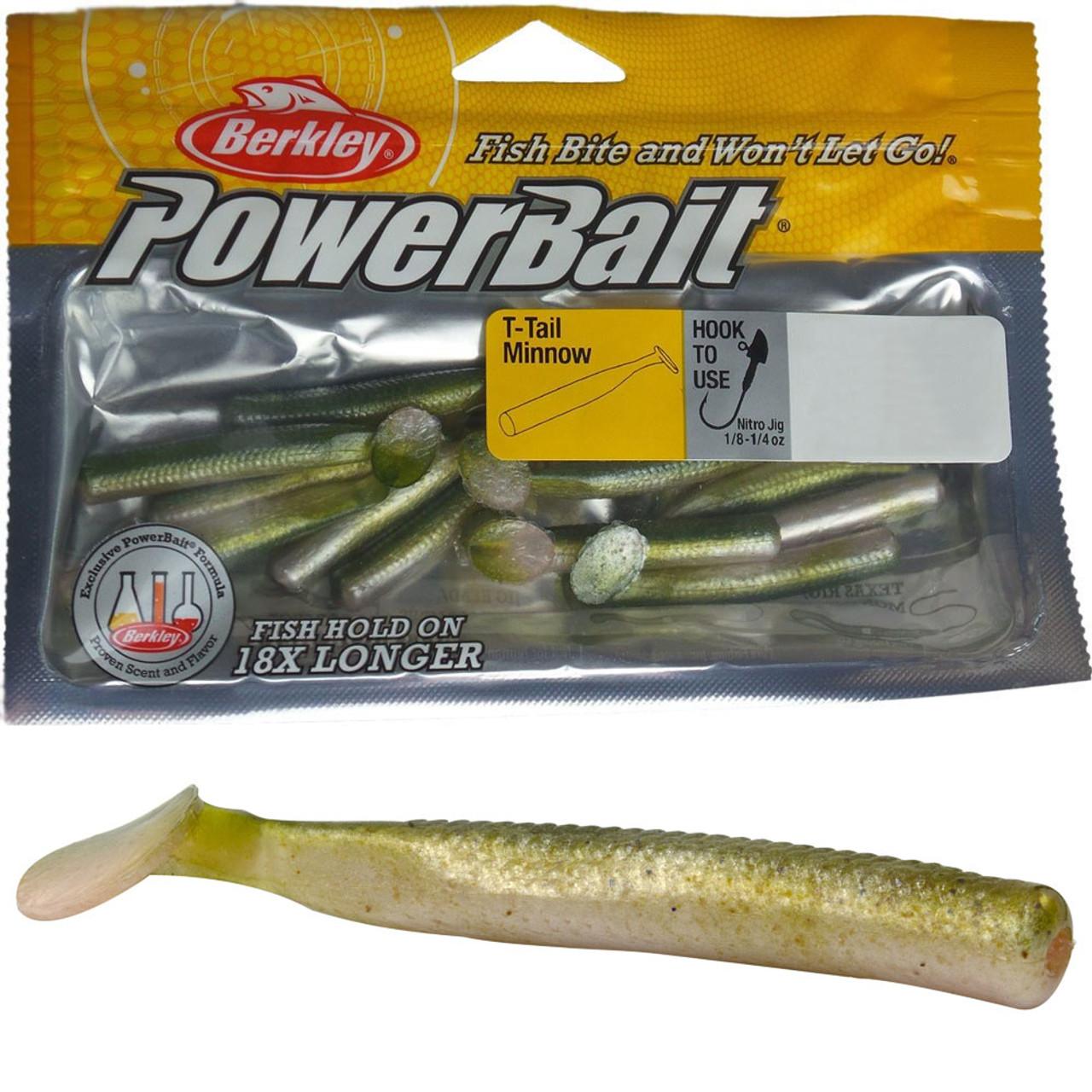 Berkley Powerbait T Tail Minnow Fishing Lures