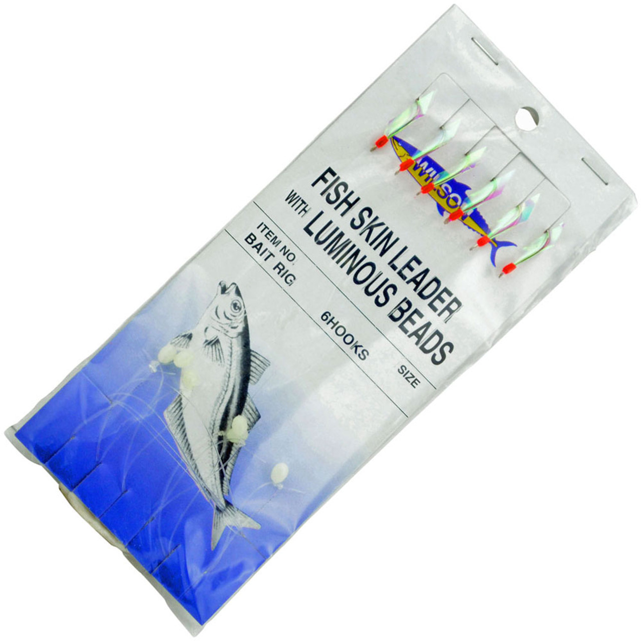 Mustad Flash-A-Boo Mackerel /& Bait Traces Rigs available in 3 hook sizes