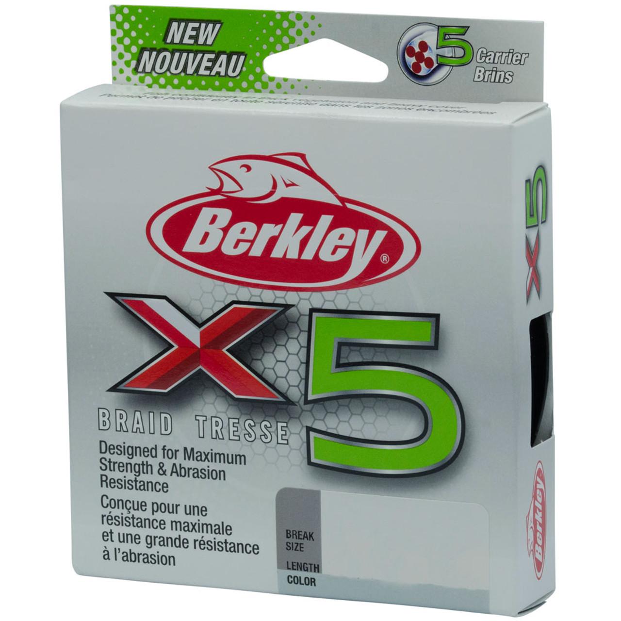 Berkley X9 Braid Line 100/% PE Smooth Casting Saltwater Fishing Line All Sizes