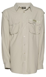 Shimano Vented Shirt Fishing Shirt Long Sleeve Oatmeal Colour