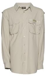 Shimano Vented Shirt Fishing Shirt Long Sleeve Oatmeal Colour