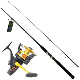 Heavy Offshore Boat Fishing Combo Penn Live Liner 760L with Ugly Stik USG-SP702BWH Rod