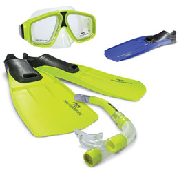 Land And Sea Adventurer mask snorkel flippers set