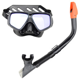 Black Mirror Black Silicone Mask And Snorkel Set